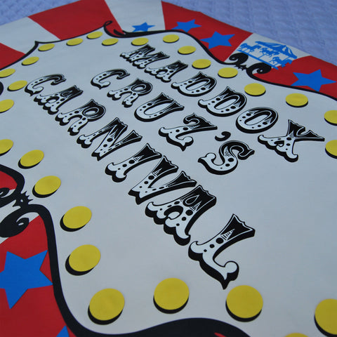 Vintage Carnival Party Sign