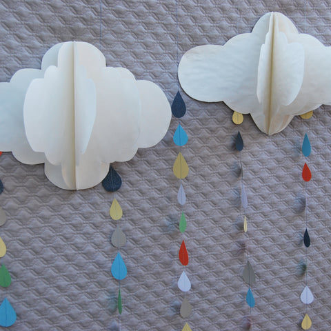 3-D Hanging Cloud Decoration