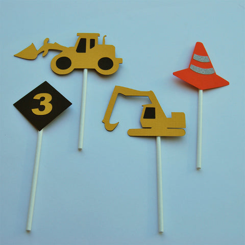Construction Truck Cupcake Toppers