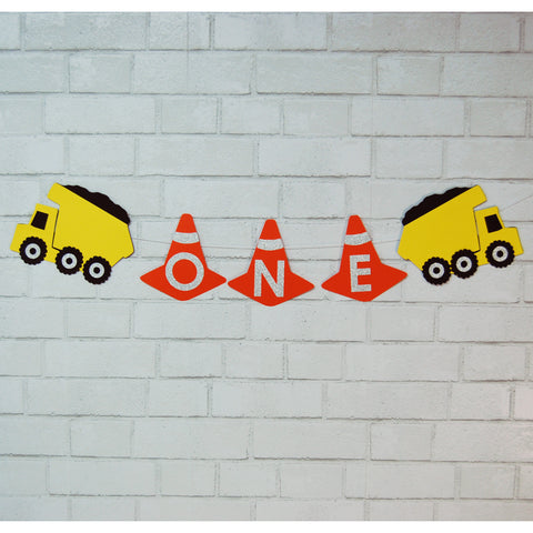 Construction Truck High Chair Banner