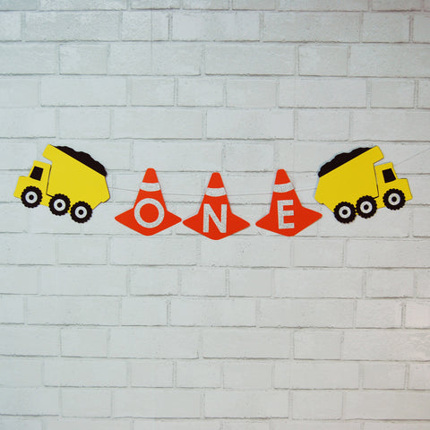 Construction Truck High Chair Banner on Pinterest