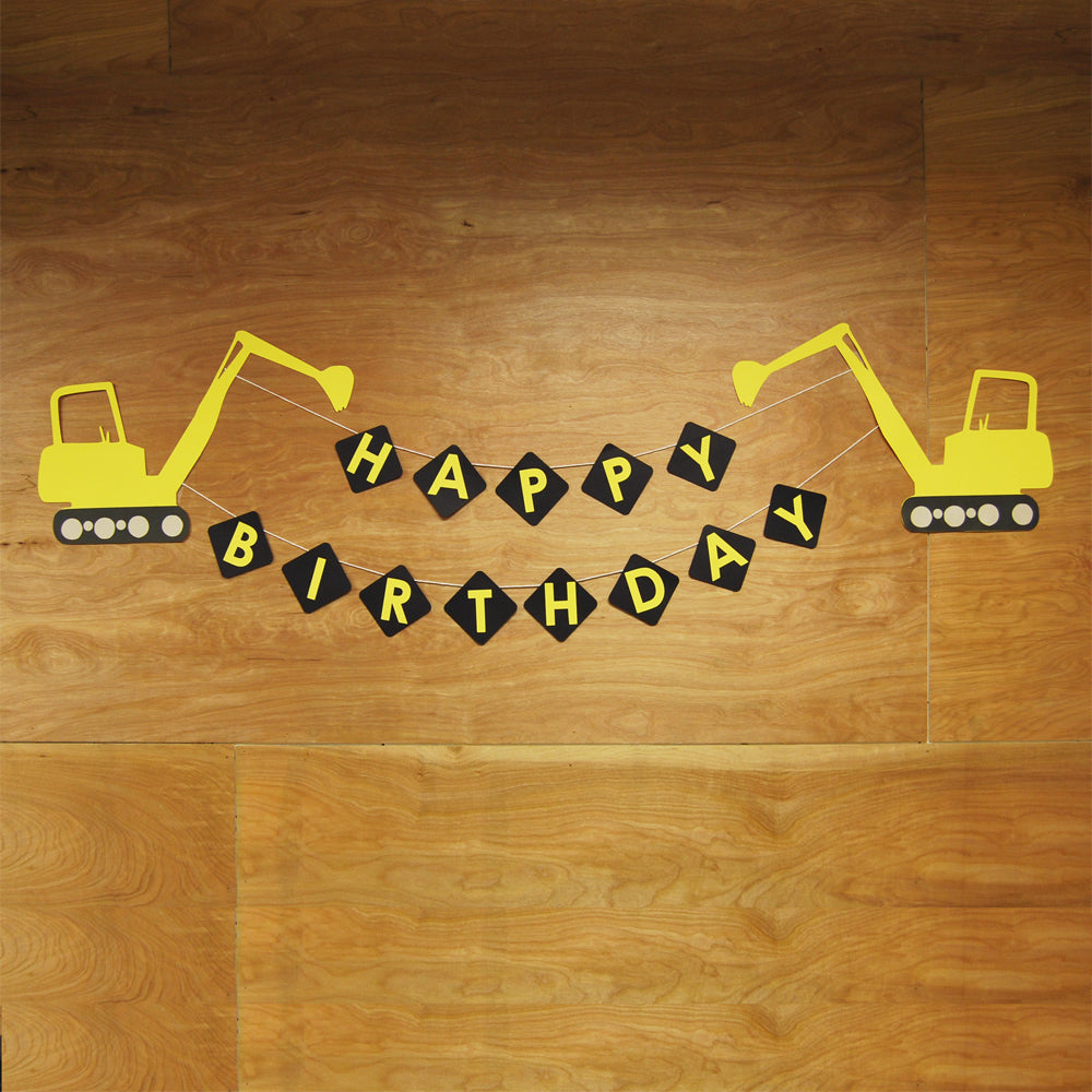 XL Construction Truck Birthday Banner