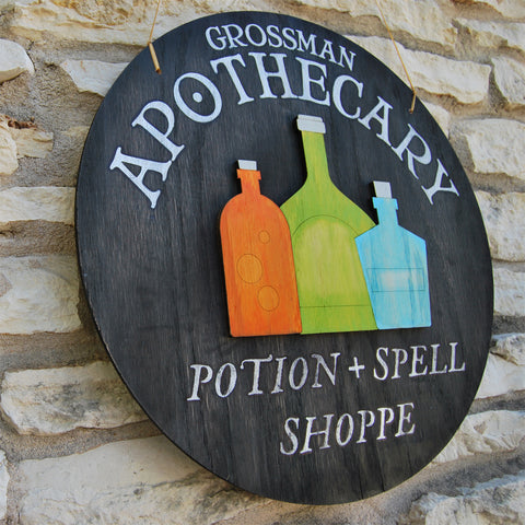 Halloween Apothecary Sign