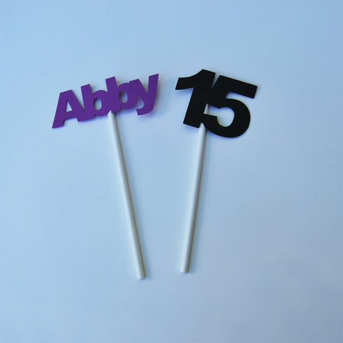 Custom Birthday Cupcake Toppers