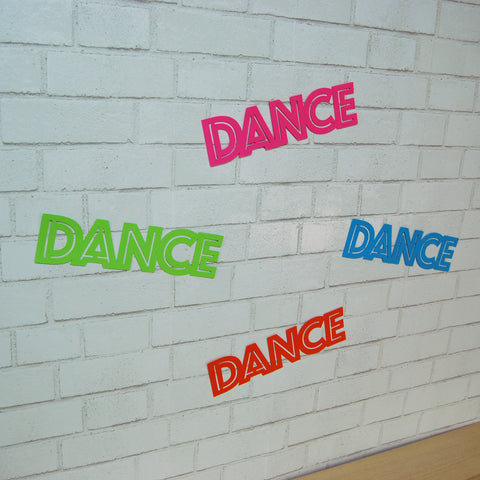 "Neon ""Dance"" Party Signs"