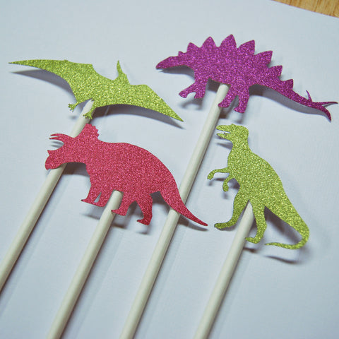 Glitter Dinosaur Cupcake Toppers on Pinterest