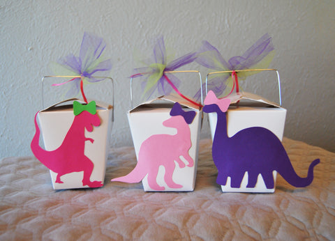 Dinosaur Party Favor Boxes on Pinterest