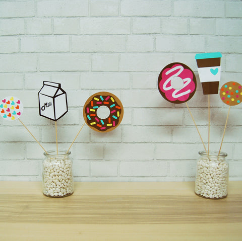 Donut Party Centerpieces