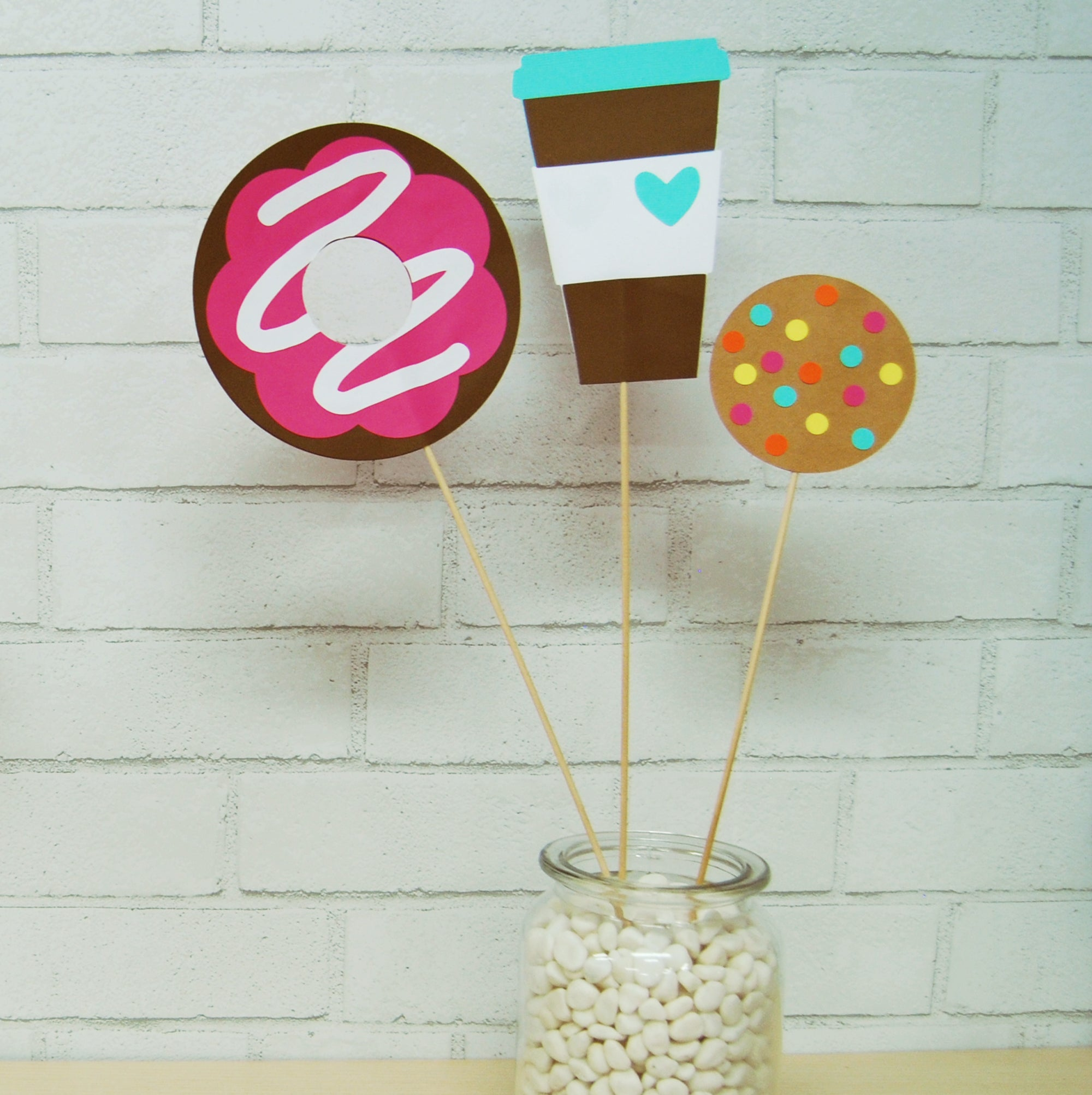 Donut And Coffee Party Centerpieces On Pinterest