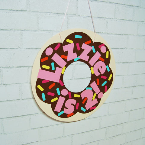 Donut Birthday Sign