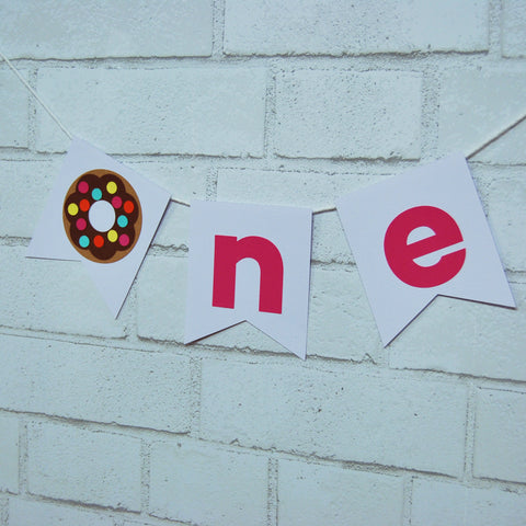 "Donut ""ONE"" High Chair Banner"