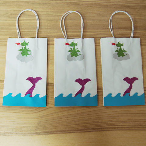 Dragon and Mermaid Party Favor Bags