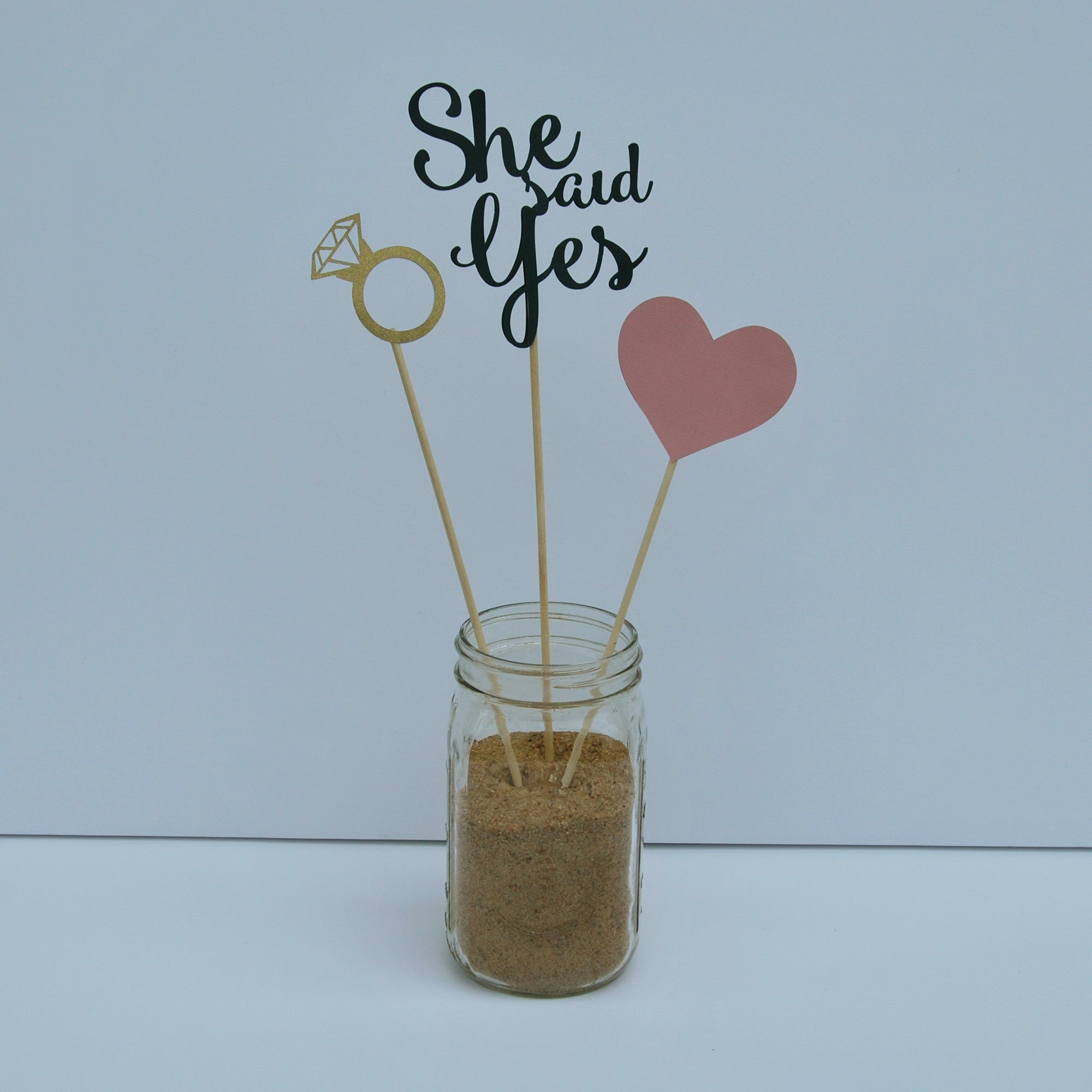 "Cute Wedding Centerpiece Ideas: ""She Said Yes"" Engagement Party Centerpiece For Pinterest"