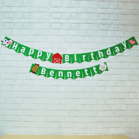 Farm Birthday Banner