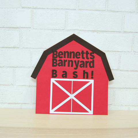 Barnyard Bash Birthday Sign