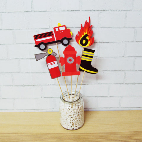 Firefighter Party Centerpiece