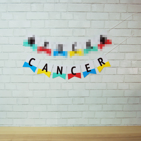 F**k Cancer Pennant Banner on Pinterest