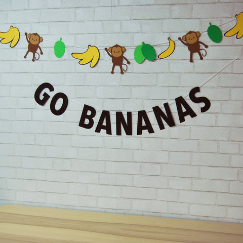 Go Bananas Banner and Garland on Pinterest
