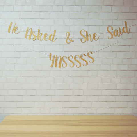 """He Asked & She said Yassss"" Banner on Pinterest"