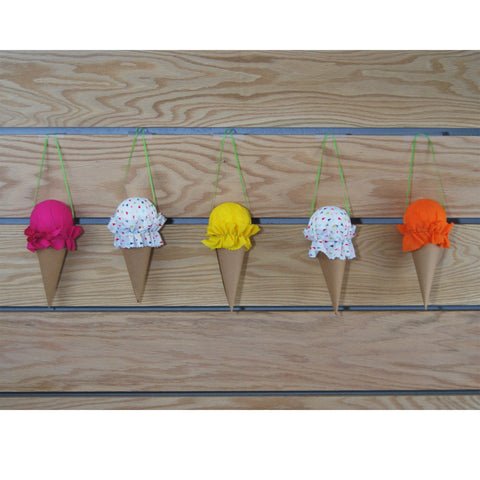Hanging Ice Cream Cone Decoration