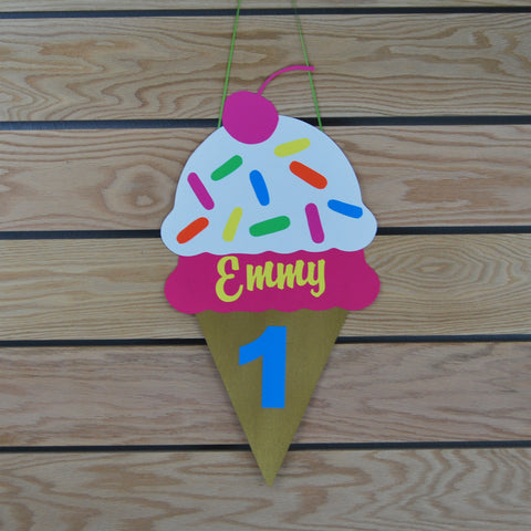 Ice Cream Party Sign