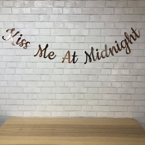 Kiss Me At Midnight NYE Banner on Pinterest