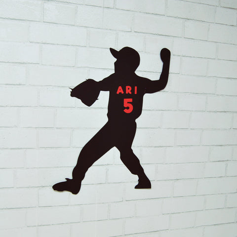 Large Baseball Player Cutout