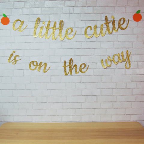 A Little Cutie is on the Way Banner
