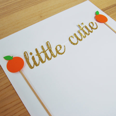A Little Cutie is on the Way Cake Topper