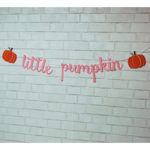 Little Pumpkin Banner