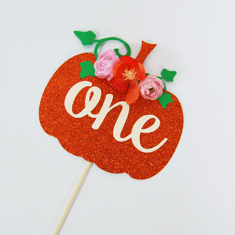 Little Pumpkin Cake Topper