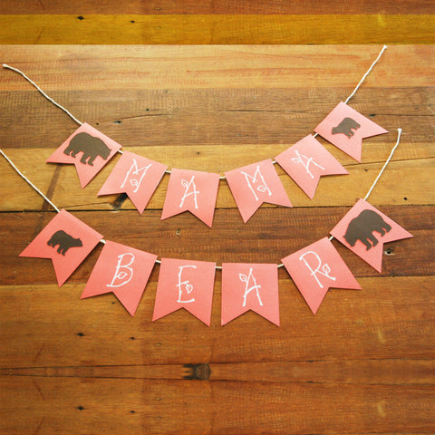 "Woodland Baby Shower ""Mama to Be"" Banner"