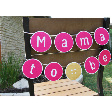 """Cute As A Button"" ""Mama To Be"" Baby Shower Banner on Pinterest"