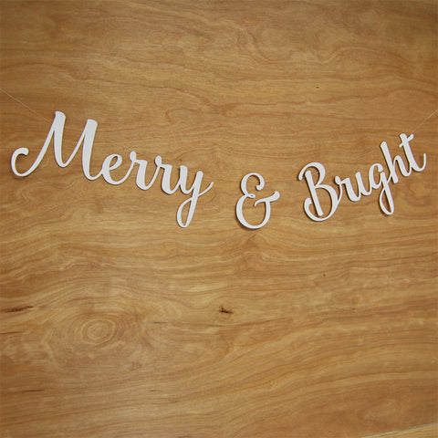 """Merry & Bright"" Banner"