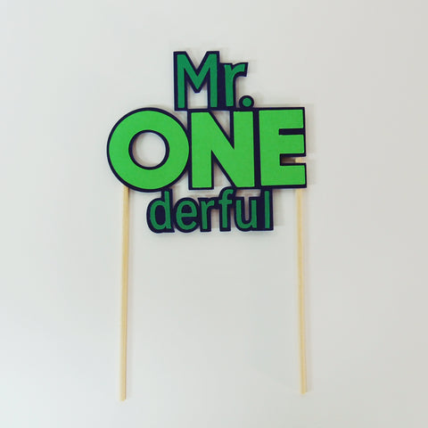 Mr.Onederful Cake Topper
