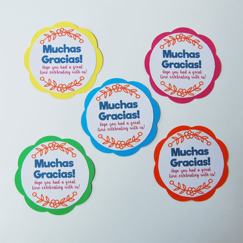 "Fiesta ""Muchas Gracias"" Party Favor Tags on Pinterest"
