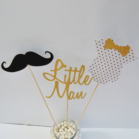 Mustache and Bowtie Centerpiece