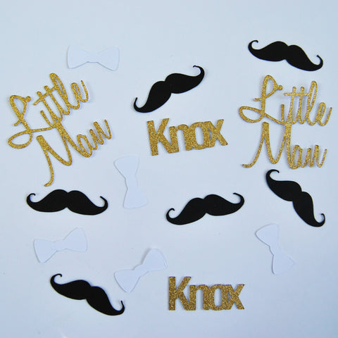 Mustache and Bowtie Confetti