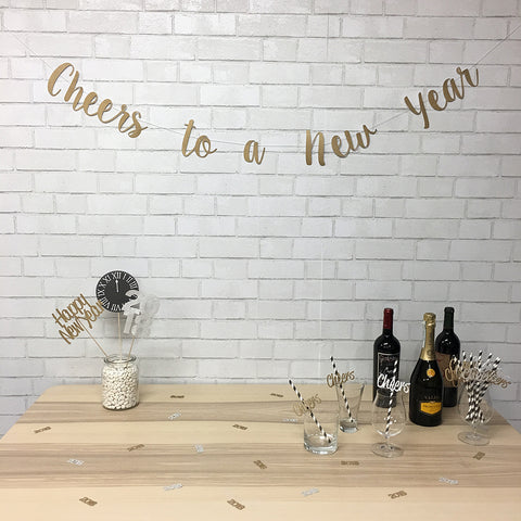 "2018 ""Cheers To A New Year"" New Year's Eve Party Bundle"