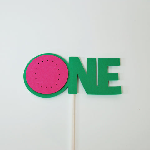 One In A Melon Smash Cake Topper