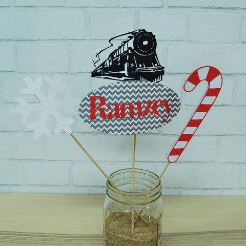 Winter Express Train Centerpiece