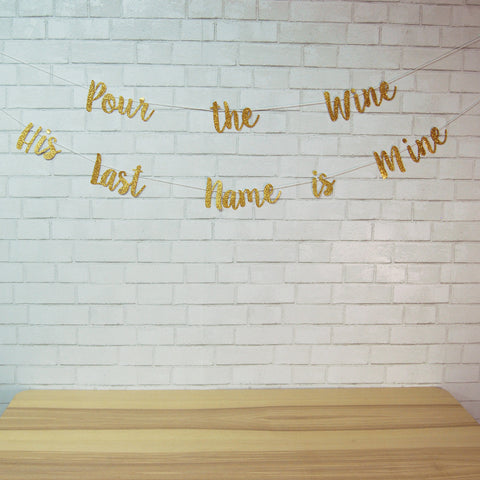 """Pour the Wine His Name is Mine"" Banner"