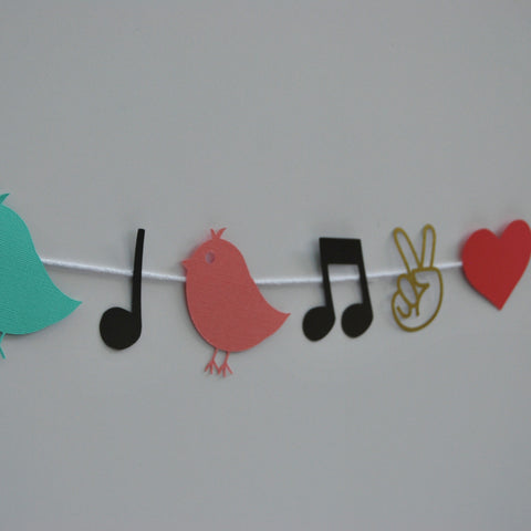 Three Little Birds Reggae Garland