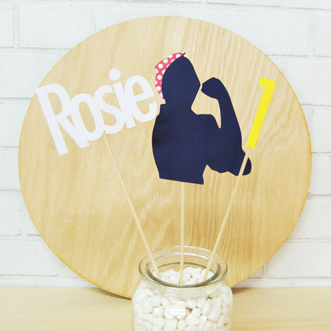 Rosie the Riveter Centerpiece