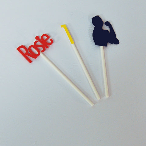 Rosie the Riveter Cupcake Toppers