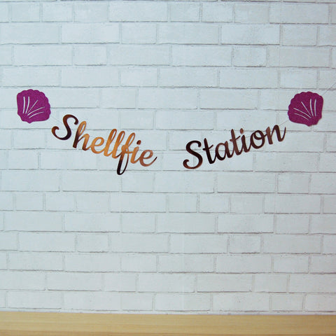 """Shellfie Station"" Photo Booth Backdrop"