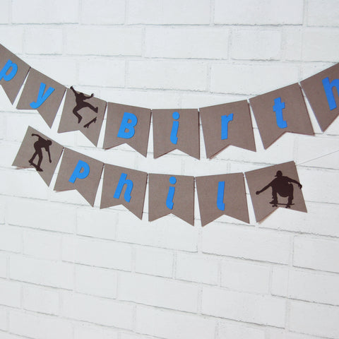 Skateboard Birthday Banner