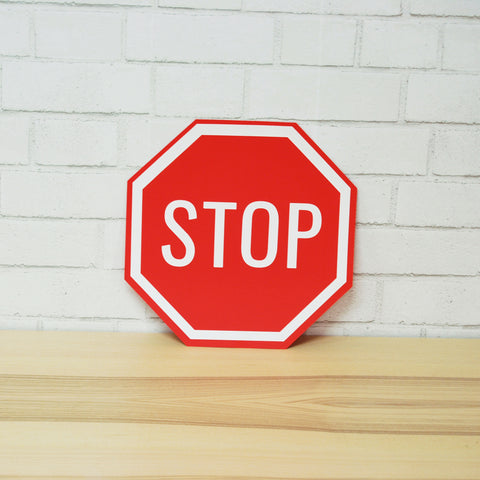 Race Car Party Stop Sign