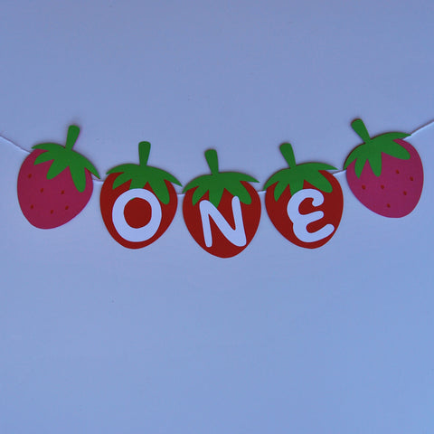 Strawberry High Chair Banner