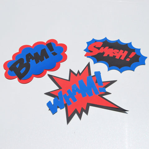 Super Hero Party Signs